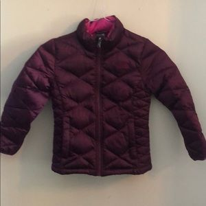 North face Girls size 7/8 puffer jacket